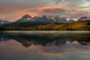 Sunrise on Little Redfish Lake in the Sawtooth Mountains of Idaho