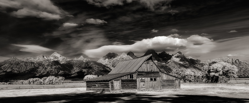 Moulton Barn in Mormon row Teton Valley Black and White
