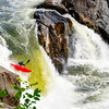Kayaker comes over the Great Falls on the Potomac River