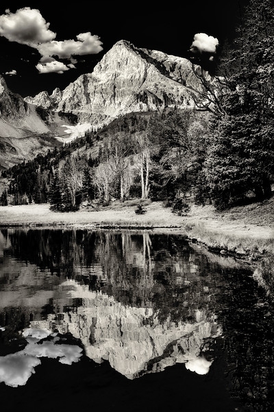 Mount Idaho reflection in Merriam Lake