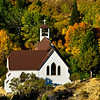 Mountain Church in Autumn