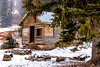 Remote Cabin near Twin Lakes Idaho in winter