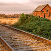 Emmett Barn and Railroad Tracks