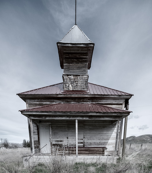 School house in the farm country south western Idaho