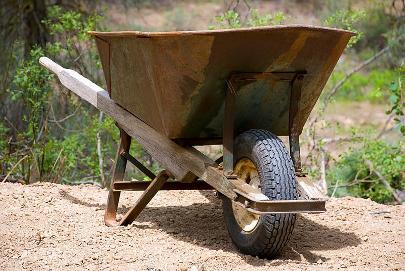 Rusted Wheelbarrow