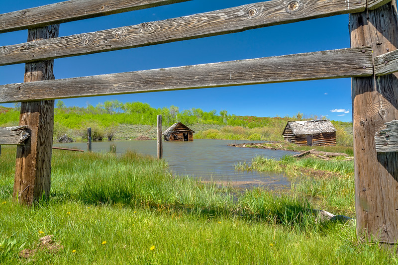Corral and Flooded Barn