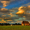 Dramatic clouds over a southern Idaho farm
