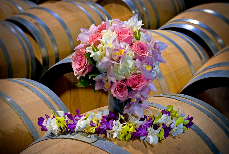Wedding bouquet at an Idaho winery