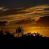 Dramatic clouds and sunset over Idaho farm
