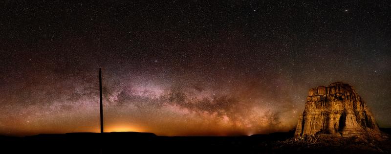 Milky Way low on the hirizin in Rome Oregon
