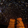 Pillars of Rome Star trail
