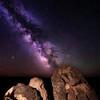 Rock bolder near Grandview Idaho with Milky Way