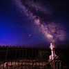 Milky Way just before Daybreak at the Shoofly cemetery