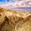 Winding dirt road heads to the Owyhee reservoir in Oregon