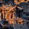 Close up of the eroding pillars of rock near Rome Oregon