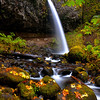 Oregon waterfall in autumn