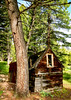 Ghost town of Gilmore Idaho old prospectors cabin