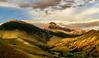 Sunset over May Mountain in the Pahsimeroi range Idaho