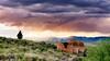 Dramatic sunset at the Charcoal Kilns Idaho
