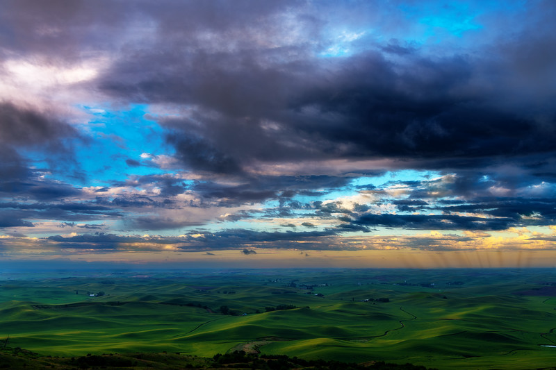 Rain across the Palouse from Steptoe Butte