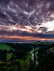 Evening clouds at sunste over the Palouse River and Steptoe Butte