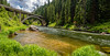 Payette River flows below the Rainbow Bridge in Idaho