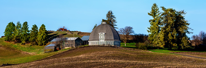 Round Barn that is part of an Eastern Washington farm