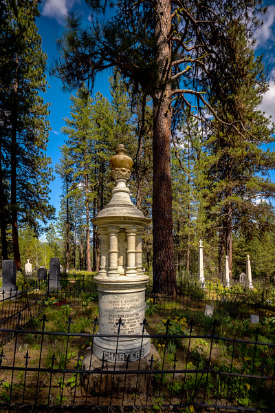 Tomb stone in the Placerville Idaho  cemetery