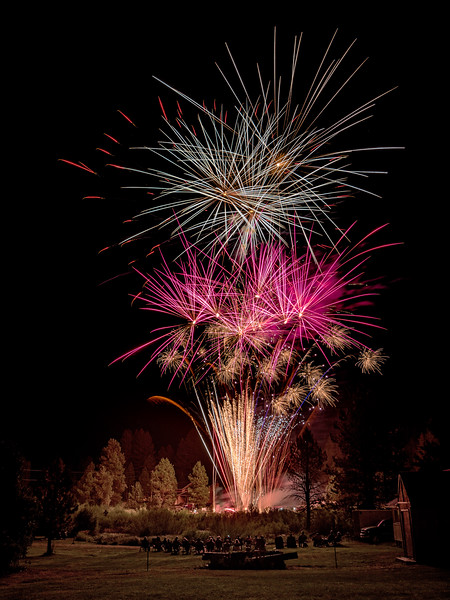 4th of July fireworks in Placerville Idaho 2016