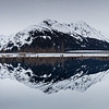 A reflection along the Seward Highway, Alaska.