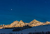 Thompson Peak from Little Redfish Lake by moon light