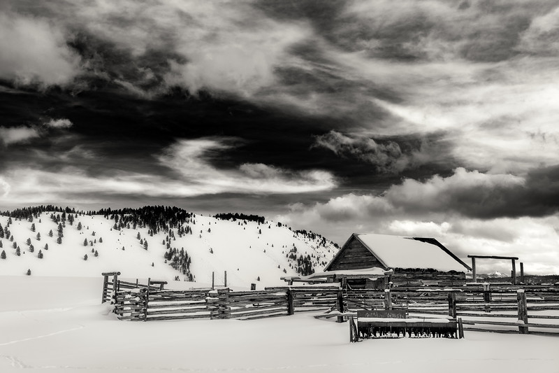 Dramatic clouds over Stanley Corral in winter