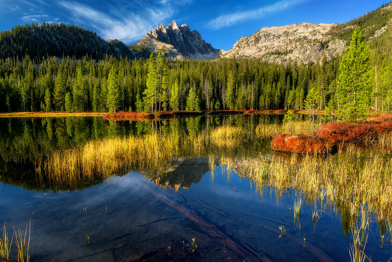 Bench Lake with Mt. Heyburn first light