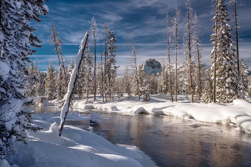 Redfish creek and Mt. Heyburn winter