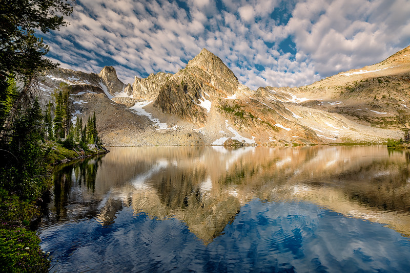 Clouds over the peaks at Twin Lakes
