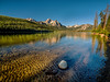 Stanley Lake in Idaho morning with reflection