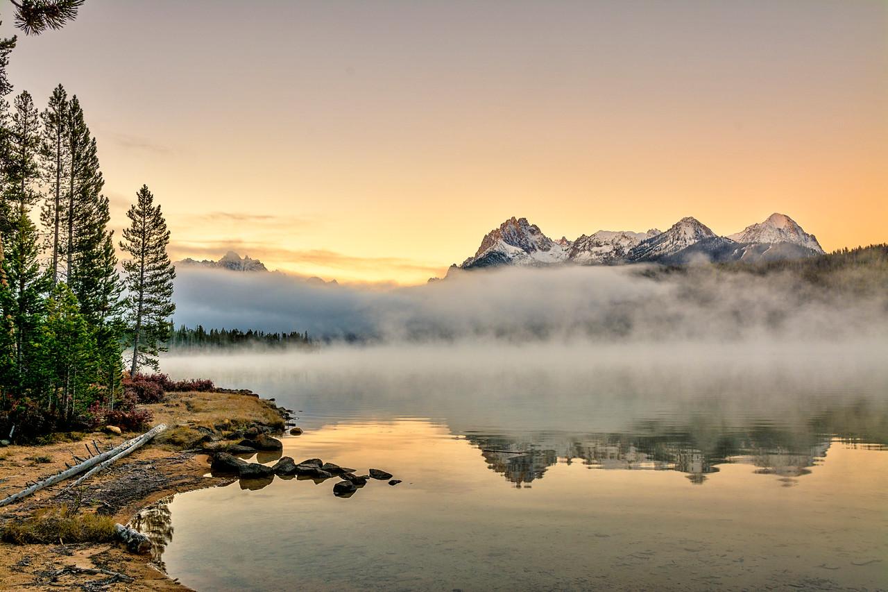Morning Fog Redfish Lake Idaho