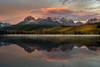 Sunrise on Little Redfish Lake in the Sawtooth Mountains of Idaho