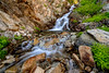 Small creek waterfall in the Sawtooth National forest of Idaho