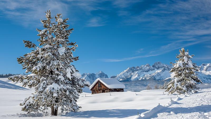 Winter cabin in Stanley