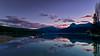 Redfish Lake Sunset in the Fall