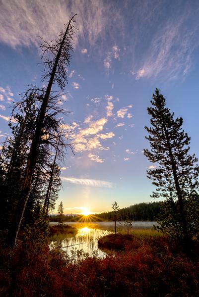 First Light on Bench Lake, Idaho