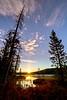 First Light on Bench Lake Idaho