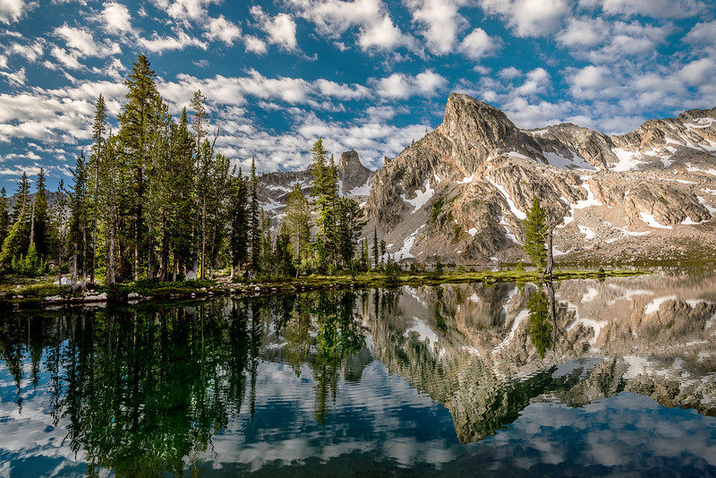 Dramatic reflection in Twin Lakes Sawtooth National Forest Idaho