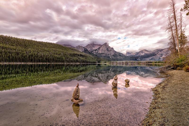 Stacked Rocks at Stanley lake