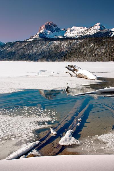 Redfish Lake--Winter Morning