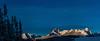 Braxton Peak Pano from Little Redfish lake winter Pano