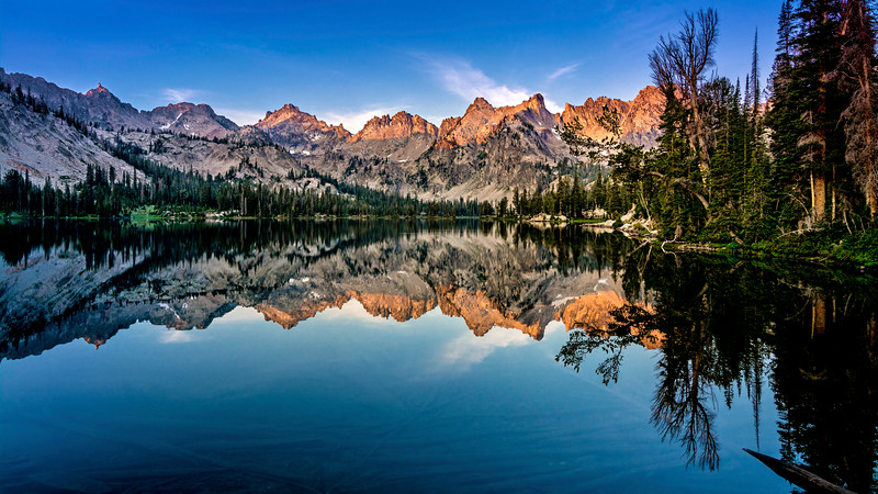 Sawtooth reflection in Alice Lake first light