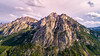 Aerial McGown Peak in the Sawtooth Mountains of Idaho close up