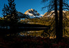Sunrise at Bench Lake with Mount Heyburn